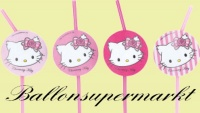 Trinkhalme Charmmy Kitty zum Kindergeburtstag, 8 Stück