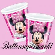 Partybecher mit Mini Maus, Minnie Mouse, Kindergeburtstag-Set, 10 Stück