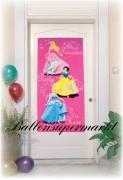 Türposter mit Prinzessinnen, Dekoration zum Kindergeburtstag
