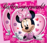 Servietten, Mini Maus, 20 Stück, Kinderparty, Kindergeburtstag, Minni Mouse Partyservietten