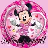 Partyteller mit Mini Maus, Minnie Mouse, 10 Stück