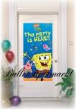 Türposter mit Spongebob, Schwammkopf-Poster, Dekoration zum Kindergeburtstag